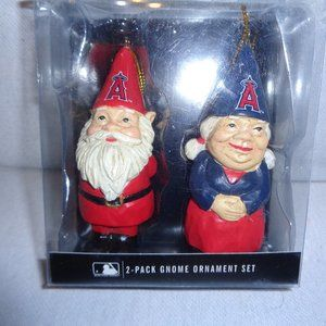 MLB Los Angles Angeles 2-Pack Gnome Ornament Set